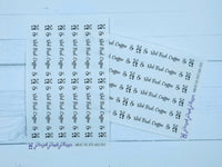 But First Coffee Washi Sticker Strips on Clear Matte for Planner or Bullet Journal - W004