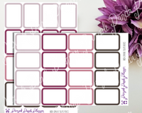 Spring Tulips Boxes B024 , Stickers for Planners or Bullet Journal, Labels