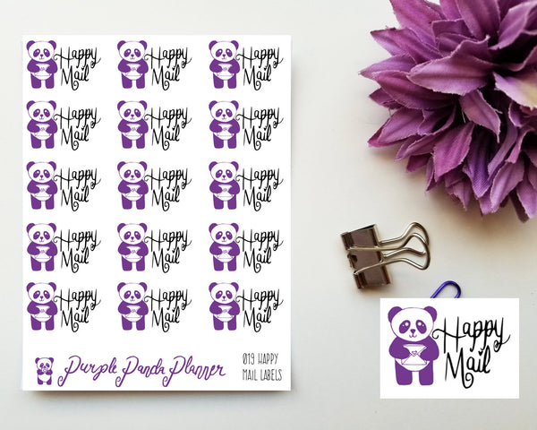 Happy Mail Labels 019 Planner or Bullet Journal Sticker for Functional Planning