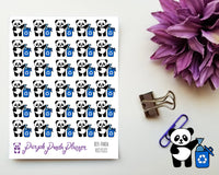 Panda Recycles, Planner or Bullet Journal Sticker for Functional Planning (026)