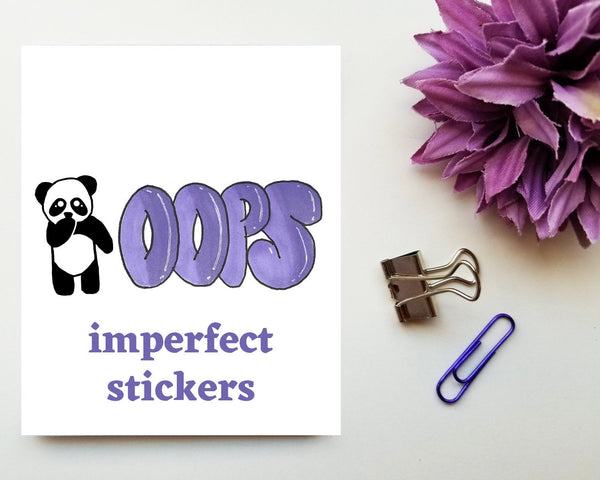 OOPS imperfect stickers Grab Bag