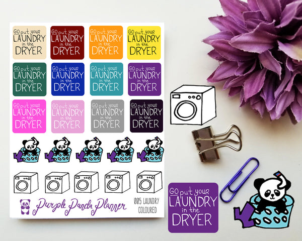Laundry Coloured 005 Planner or Bullet Journal Sticker for Functional Planning