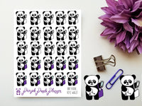 Phone Keys Wallet, Panda 007 Planner or Bullet Journal Sticker for Functional Planning