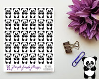 Panda Photographer 012 Planner or Bullet Journal Sticker for Functional Planning