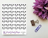 Pandamoji Minis 022 Planner or Bullet Journal Sticker for Functional Planning