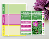 Wildrose Mini Weekly Sticker Kit for Planner or Bullet Journal Functional Planning