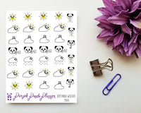 Panda Weather Minis 028 Planner or Bullet Journal Sticker for Functional Planning