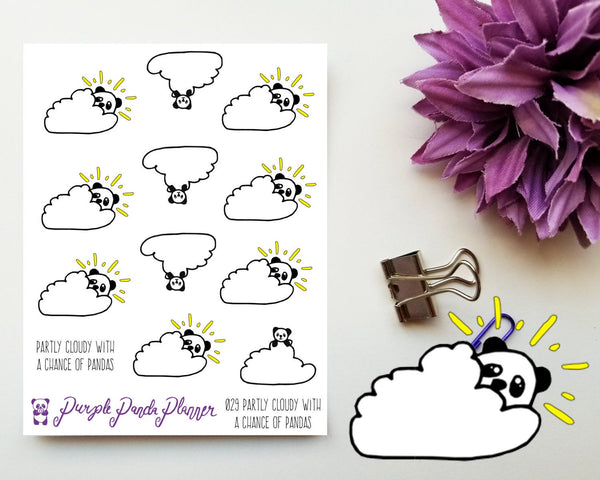 Partly Cloudy with a Chance of Pandas 029, weather stickers