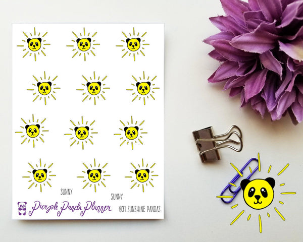 Sunshine Pandas 031, weather stickers