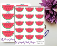 Watermelon Water Tracker Planner or Bullet Journal Sticker for Functional Planning