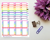 Heart Checklist Boxes - 10 Colours Available | Functional Stickers for Planner or Bullet Journal