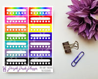 Habit Trackers Multicoloured 059 Planner or Bullet Journal Stickers for Functional Planning