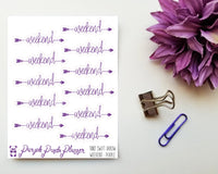 Weekend - Swift Arrow Script Sticker for Planner or Bullet Journal