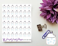 Mini Snowy Pandas 065 Weather Stickers for Planner or Bullet Journal