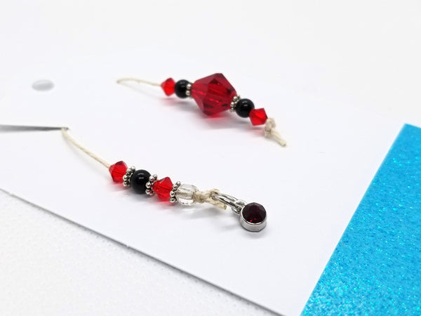Birthstone Collection : January - Garnet, Beaded Bookmark Charm for Planner, Bullet Journal, or Traveler's Notebook