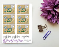 Puzzle Flat Lay Colour 076, Stickers for Planner or Bullet Journal