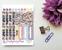 Mini Eggs Mini Kit with Washi Tape Sample for Planner or Bullet Journal