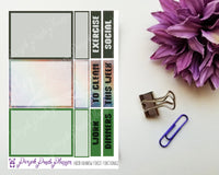 Rainbow Forest Mini Kit with Washi Tape Sample for Planner or Bullet Journal
