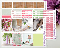 Cozy Spring Weekly Kit for Planner or Bullet Journal, Functional Stickers