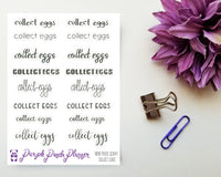 Collect Eggs Mixed Script Sticker for Planner or Bullet Journal T010