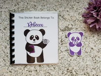 Reusable Sticker Storage Book Album - Custom Cover with Your Name