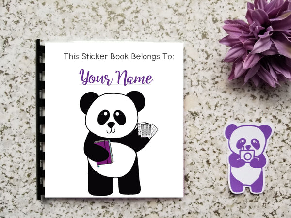 DOUBLE PAGES Reusable Sticker Storage Book Album - Custom Cover with Your Name