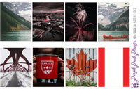 Canada Day Photo Kit for Planner or Bullet Journal, Functional Stickers
