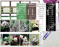 Panda Weekly Photo Kit for Planner or Bullet Journal, Functional Stickers | K063 64 65