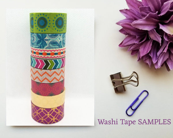 Boho Washi Tape SAMPLES with foil options
