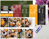 Mini Pumpkin Weekly Photo Kit for Planner or Bullet Journal, Functional Stickers