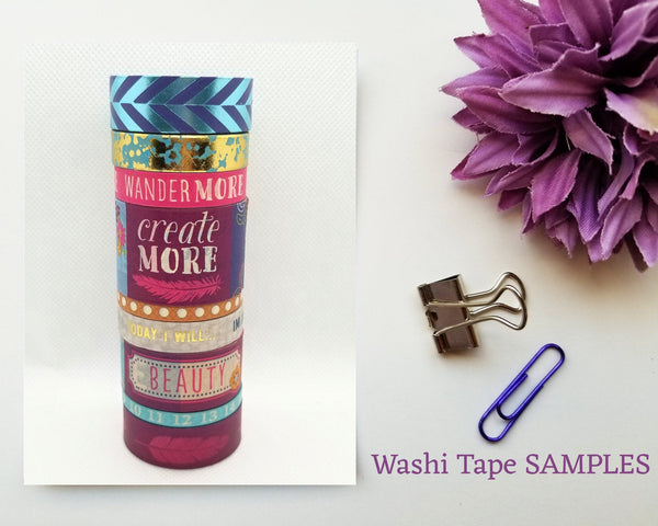 Wild Child Washi Tape SAMPLES with Foil Options
