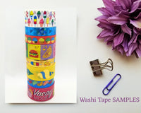 Summer Ice Cream Washi Tape SAMPLES with Foil Options