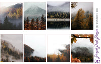 Autumn Fog Weekly Photo Kit for Planner or Bullet Journal, Functional Stickers