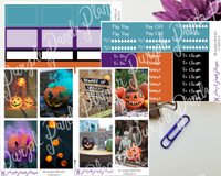 HP Big - Halloween Pumpkin Weekly Photo Kit for Planner or Bullet Journal, Functional Stickers