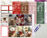 HP Classic - Candy Cane Hot Cocoa Weekly Photo Kit for Planner or Bullet Journal, Functional Stickers