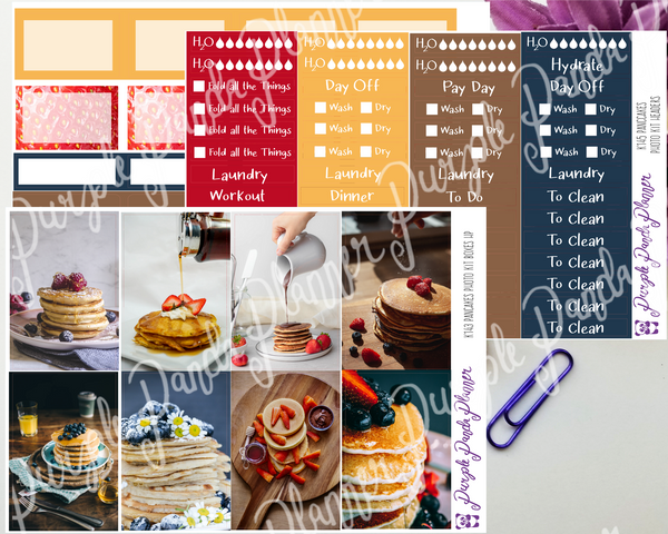 HP Classic - Pancakes Weekly Photo Kit for Planner or Bullet Journal, Functional Stickers (K143)