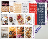 Standard Vertical - Waffles Weekly Photo Kit for Planner or Bullet Journal, Functional Stickers | K128