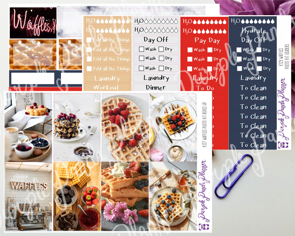 HP Classic - Waffles Weekly Photo Kit for Planner or Bullet Journal, Functional Stickers (K111)