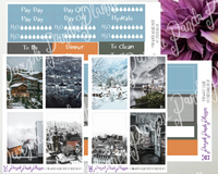 HP Big -Winter VillageWeekly Photo Kit for Planner or Bullet Journal, Functional Stickers (K105-K110)