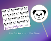 Crying Panda Mini009 Planner or Bullet Journal Sticker for Functional Planning