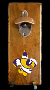 Magnetic Bottle Opener - LSU Tigers - Fleur de Lis/Tiger Eye Logo