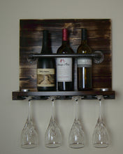 Load image into Gallery viewer, Wall Mounted Wine Rack with Black Industrial Pipe