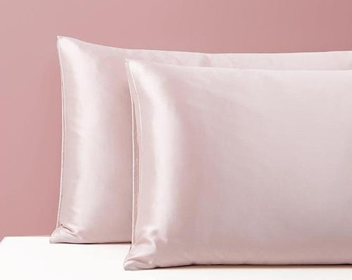 Blush Pink Silk Pillowcase