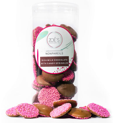 Chocolate Nonpareils. - Zoe's Chocolate Co.