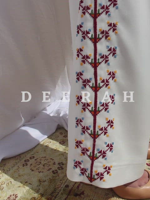 Hand-Embroidered Madani Suit