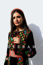 Load image into Gallery viewer, Aya - Hand-Embroidered Traditional Dress Deerah