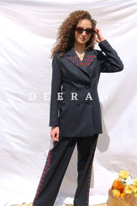 Embroidered Suit Jacket Deerah