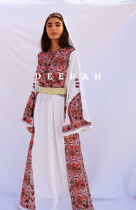 Lana - Hand Embroidered Palestinian Dress Thobe Deerah