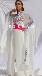 Load image into Gallery viewer, Rand - Hand Embroidered Plisse Bridal Jumpsuit Deerah
