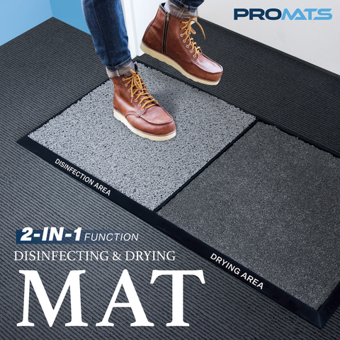 PROMATS 2-in-1 Disinfecting and Drying Mat (80 x 40 cm)